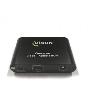 CONVERSOR DE VIDEO VGA + AUDIO PLUG3.5MM A HDMI (C/FUENTE)