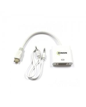 CONVERSOR DE VIDEO MINI HDMI A VGA + AUDIO 3.5MM (INCLUYE CABLE AUDIO)