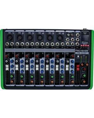 Consola Probass 8Ch Bt/Usb Pm-1224Bt