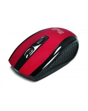 Klip Xtreme - Mouse - Wireless - 2.4 GHz - Red - Nano - 6-button Opt (KMW-340RD)
