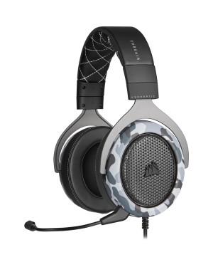 Audífonos Gamer Corsair HS60 Haptic, Controlador 50mm, Conexión USB, Camo (CA-9011225-NA)