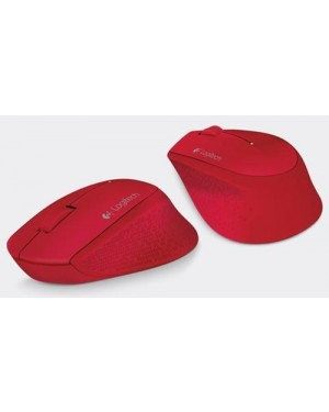 Mouse Inalambrico Logitech M280 Rojo Wireless 2.4GHz (910-004286)