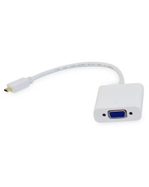 CONVERSOR DE VIDEO MICRO HDMI A VGA + AUDIO 3.5MM (INCLUYE CABLE AUDIO)