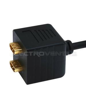 SPLITTER HDMI A 2 SALIDAS HDMI, 20CMS. PREMIUM