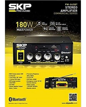 Amplificador SKP Pw-045Bt - (PW-045BT)