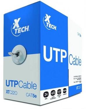 Xtech Caja Cable Utp Categoria 5E Gris De 305 Mts Aleacion - (XTC-220)